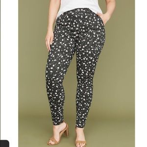 Utility Floral Skinny Pants Size 14/16